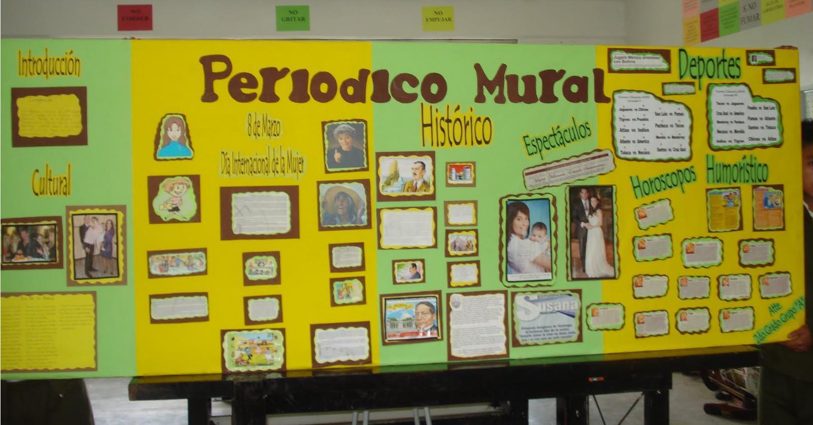 Proyecto educativo el peri dico en la escuela for Estructura de un periodico mural