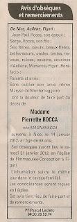 décès Rocca Magnavacca