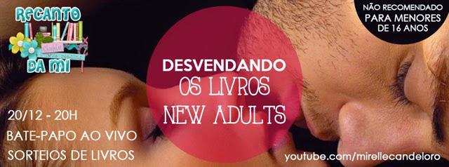 Bate papo livros new adults promoção