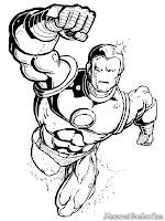 Mewarnai Gambar Iron Man Terbang