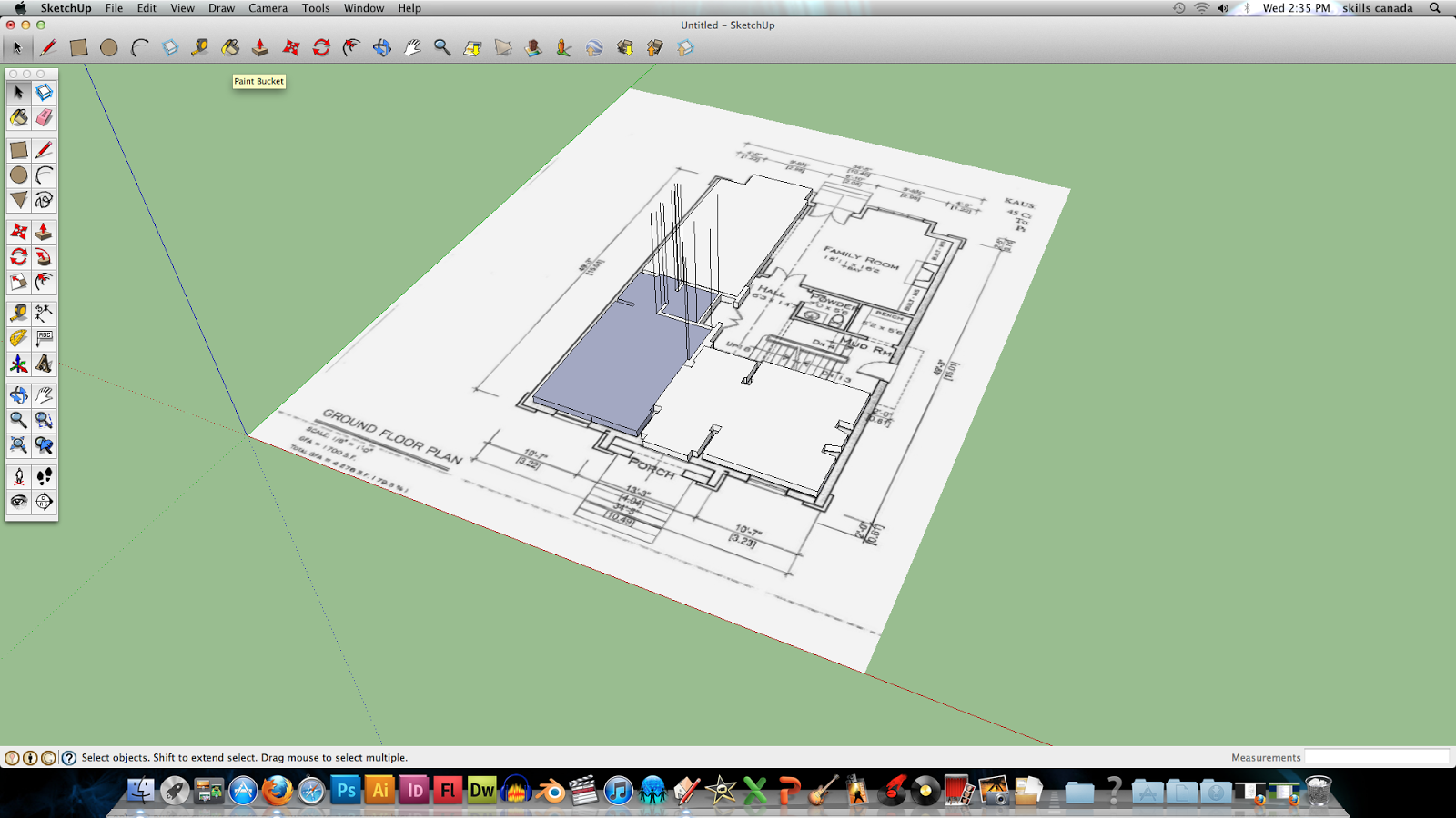 Technological design projects for Floor plans in sketchup