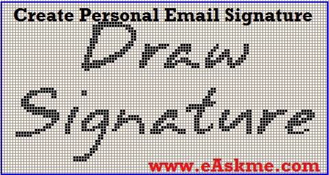 Create Personal Email Signature : eAskme