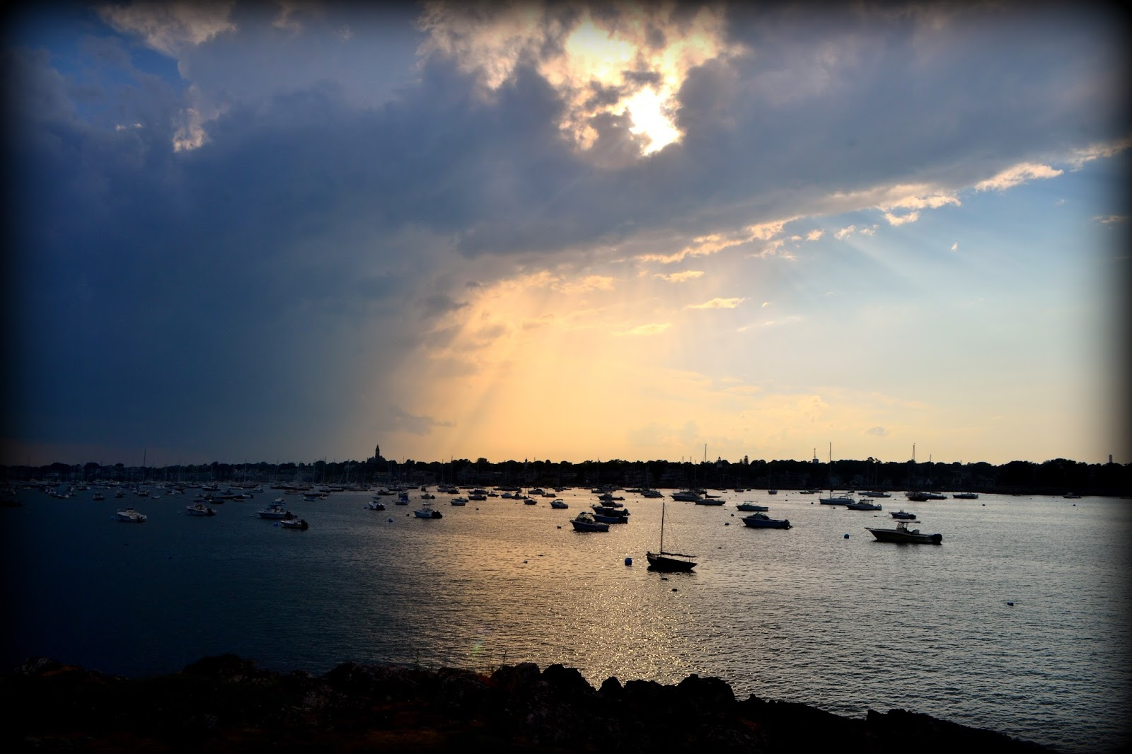 dark, harbor, contrast, boats, marblehead, silhouette