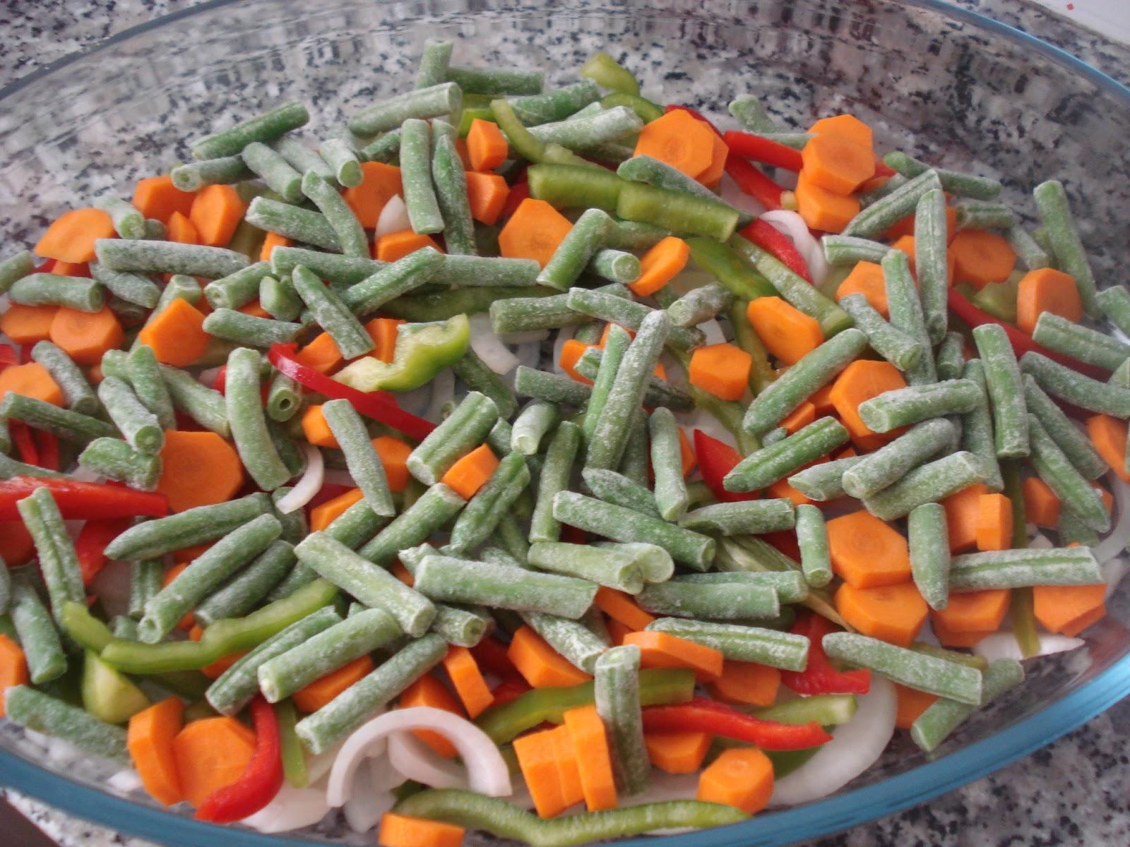 Las recetas de omy muslos de pollo al horno con verduras - Cocinar verduras al horno ...