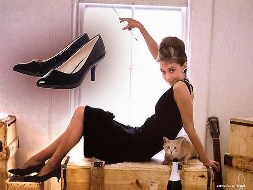 Sepatu Wanita Model Kitten Heels