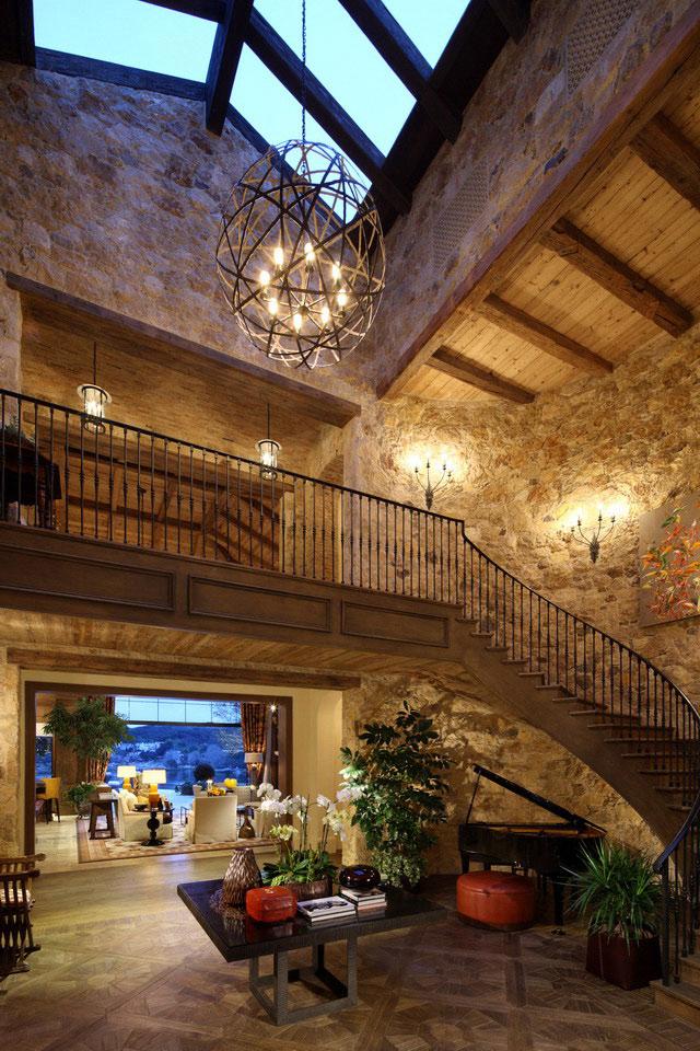 Stairs of Luxury Villa Del Lago