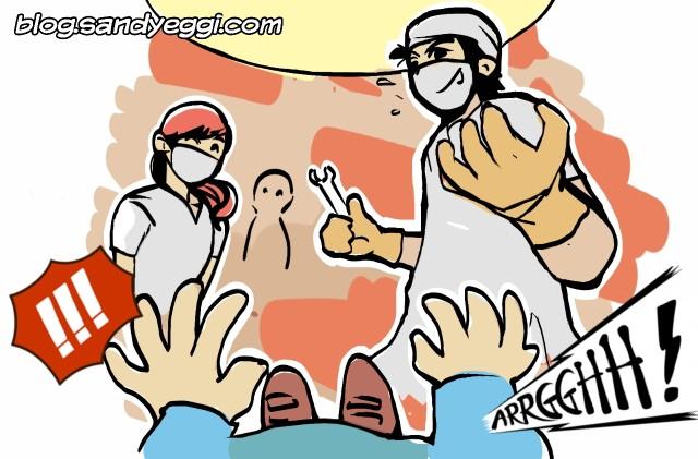Ilustrasi Dokter Sedang Operasi
