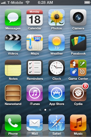 Cydia on iOS 6 beta