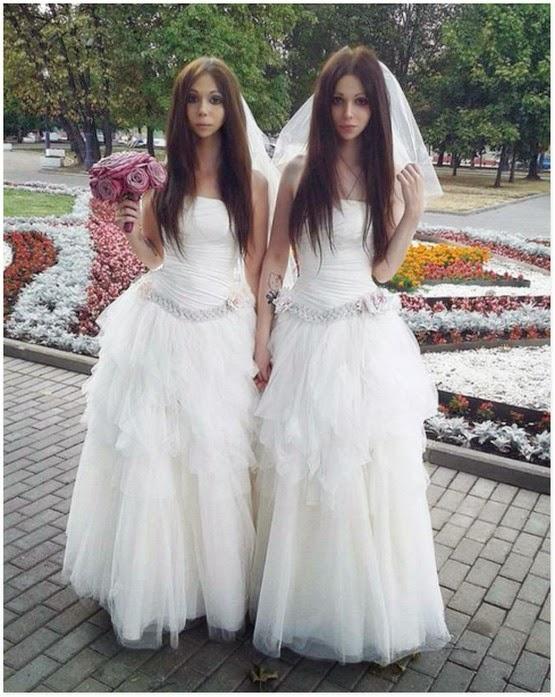 Pasangan Pengantin Paling Pelik Yang Kelihatan Kembar Seiras