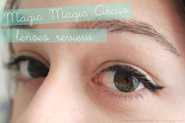 Magic Magic Circus lenses review (green)