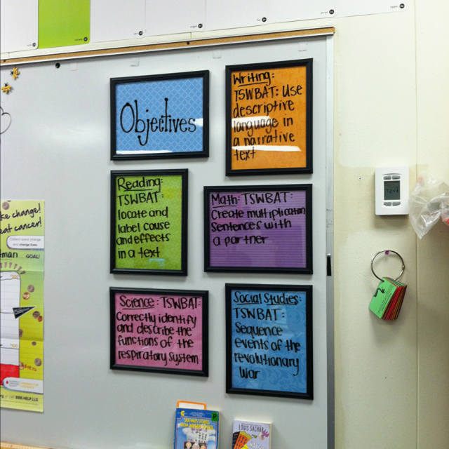 Classroom Standards For Design : My own twist on things daily objective dry erase boards