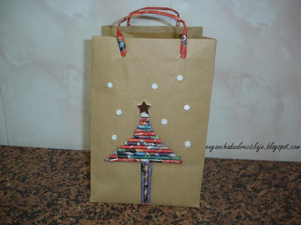 Vamos a reciclar bolsa de papel para regalo - Bolsa de papel para regalo ...