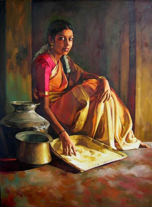 ... Painting Look alike Photography - Artist Elayaraja's Awesome Paintings
