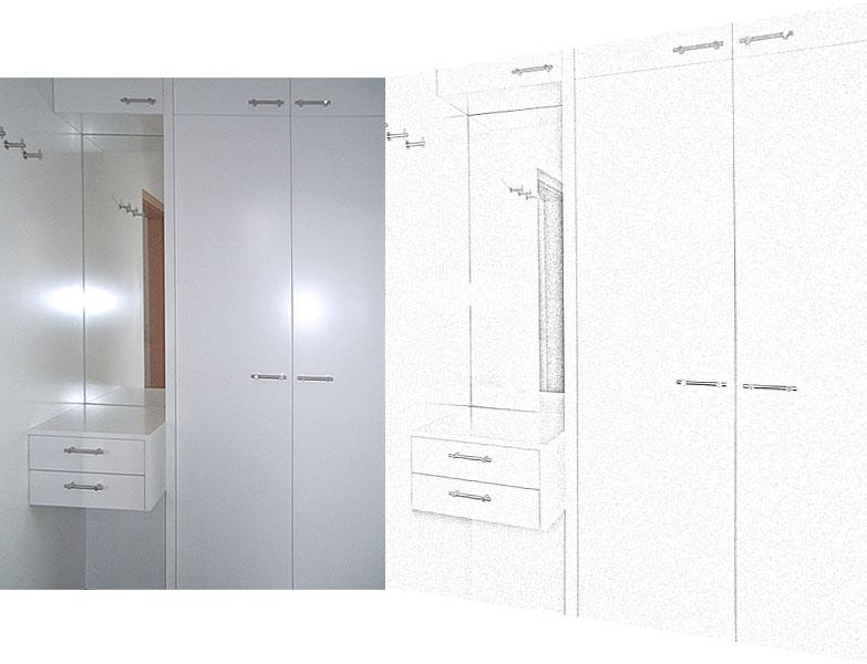 der holzversteher einbauschr nke garderoben. Black Bedroom Furniture Sets. Home Design Ideas