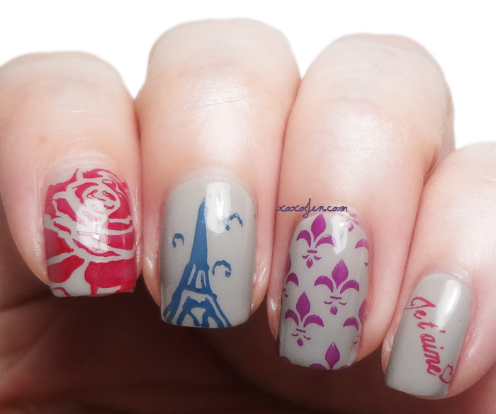 xoxoJen's stamping nail art with Creme a la Mode August Box