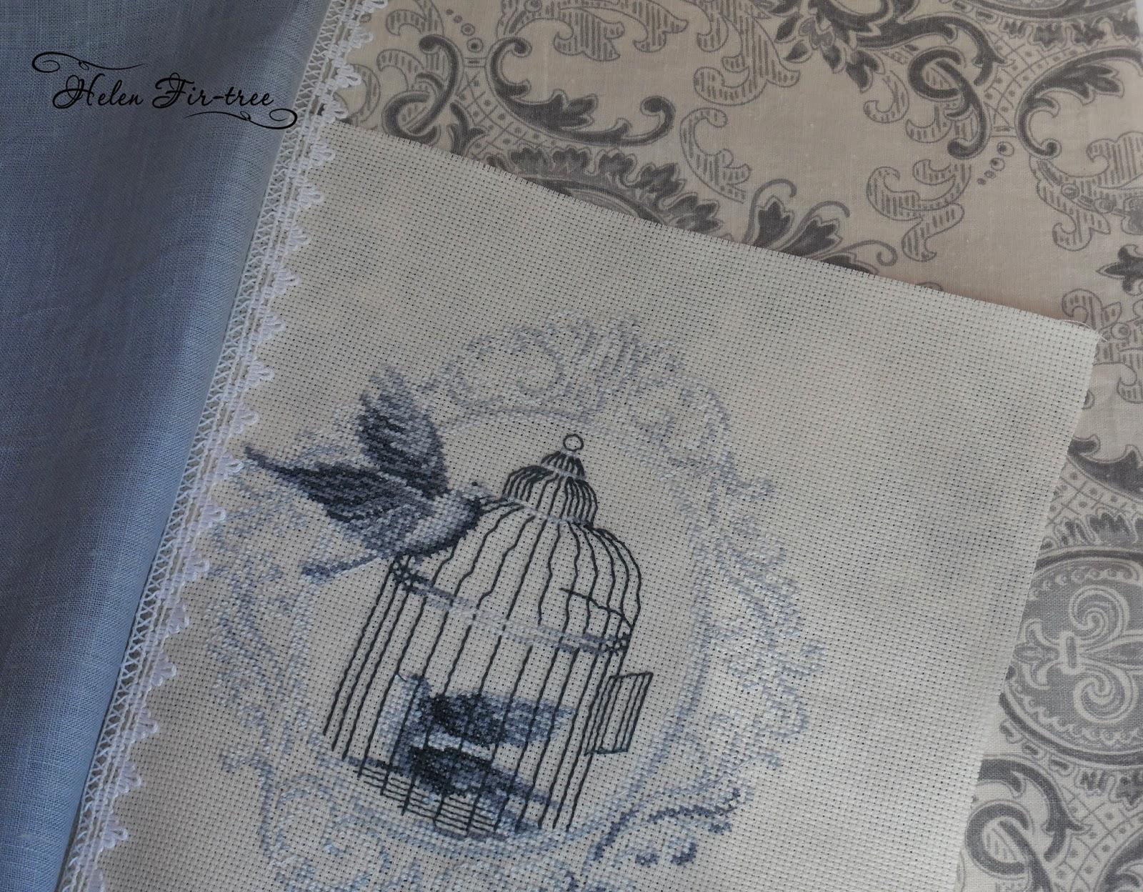 Helen Fir-tree вышивка  крестом чехол для одежды stitch suit bag