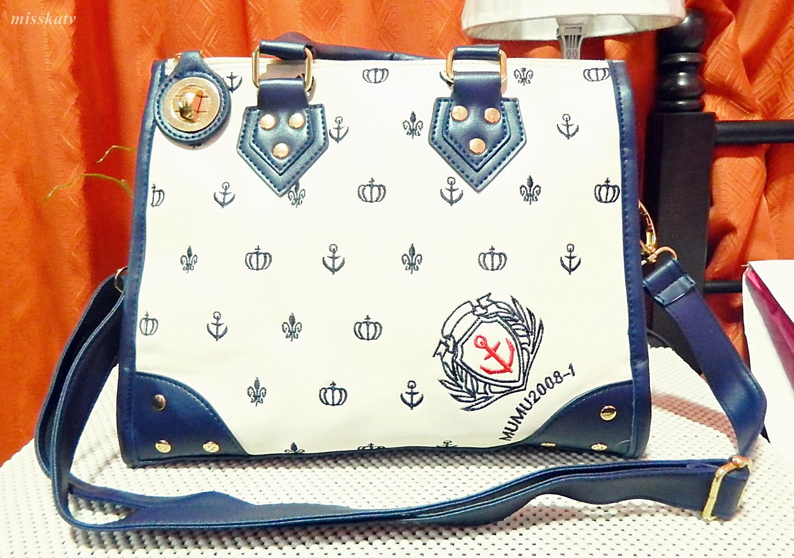 rosewholesale nautical bag anchor navy blue handbag best bag size secured cute simple sling bag 2 in 1 school bag office bag cheap affordable