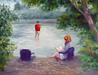 'Our River' custom oil landscape painting