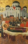 Burying Saint Dimitrios of Thessaloniki