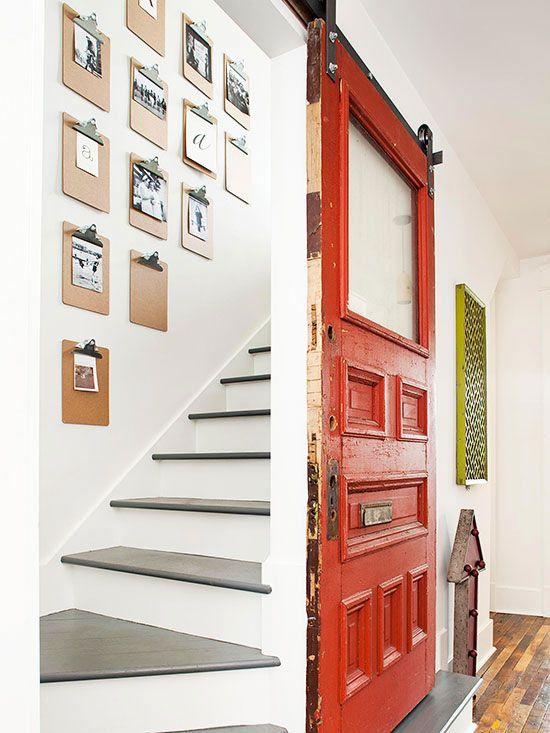 Decora tu pared con clipboard mi casa es feng for Decorar subida de escalera