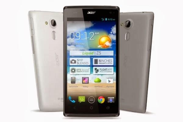 Acer Liquid Z5: especificaciones técnicas