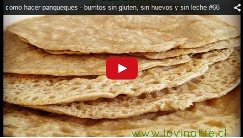 Video con receta de panqueques sin gluten