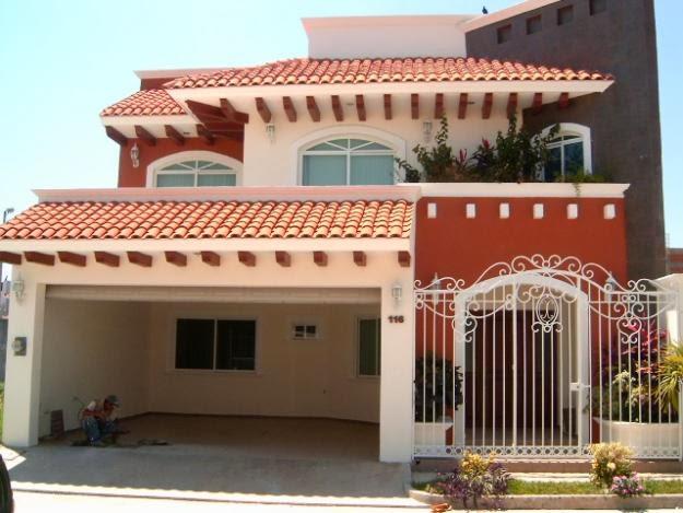 Fachadas mexicanas y estilo mexicano fachada con estilo for Fachadas de casas con teja