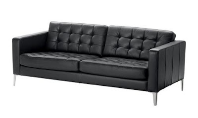 textured couch with steel legs