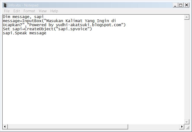 Tips N Trik Cara Membuat Komputer Bisa Berbicara ~ YUdh ...