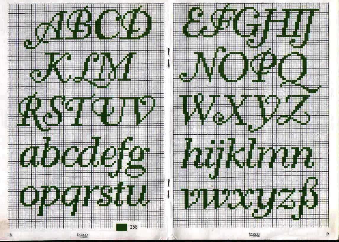 Monogramas E Alfabetos Em Ponto Cruz Part 3
