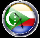 علم جزر القمر  Comoros Flag clock