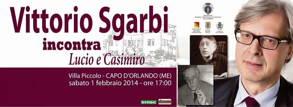 VITTORIO SGARBI INCONTRA LUCIO E CASIMIRO PICCOLO