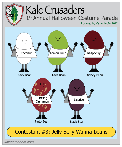 Contestant #3: Jelly Belly Wanna-beans, Kale Crusaders 1st Annual Halloween Costume Parade, Powered by Vegan MoFo 2012