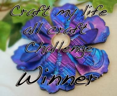 I'm one of the winners of Craft My Life Dec-Jan Challenge!