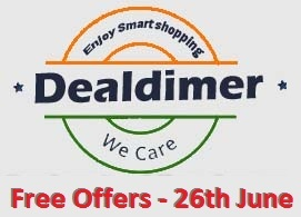 Dealdimer Samples, Earn, Win and Free offers for the Date of 26th June, 2015