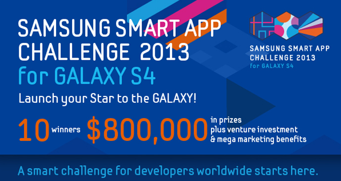 the Galaxy S4,Samsung equips a contest application development 800 000 $