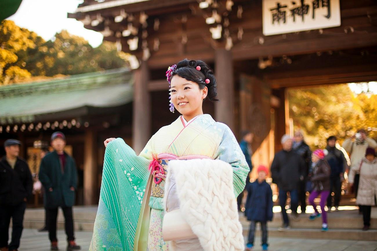Japonesa en kimono