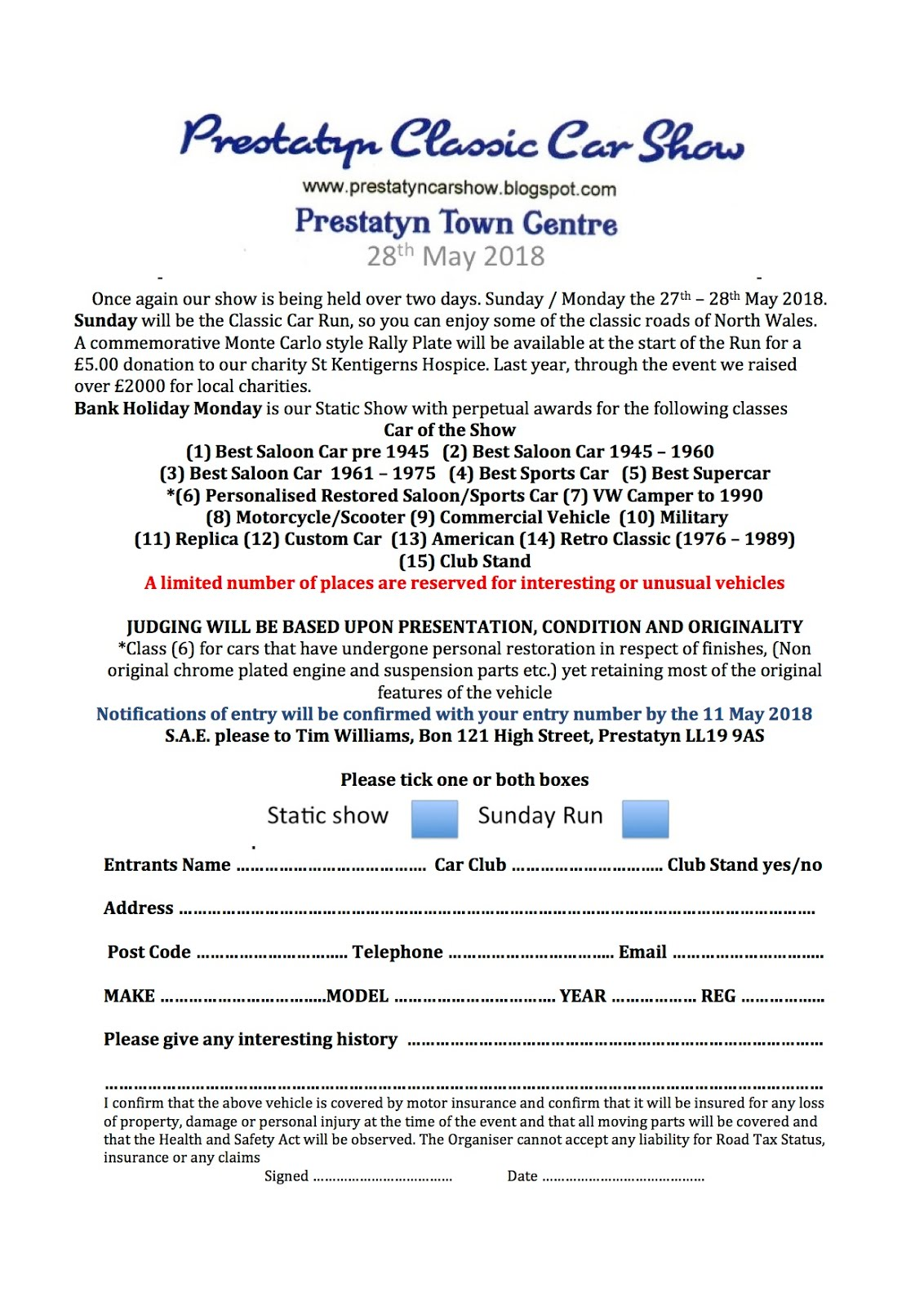 download an entry form HERE