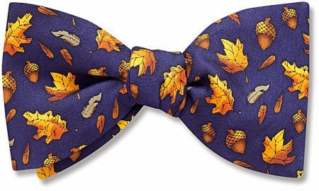 Autumnal bow tie from Beau Ties Ltd.