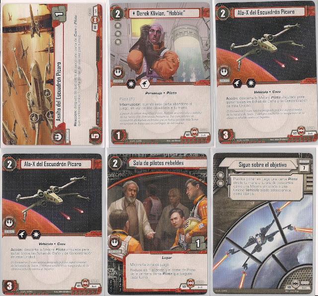 Expansión Star Wars LCG: Ciclo Escuadrón Pícaro - Preparados para despegar Asalto del Escuadrón Pícaro