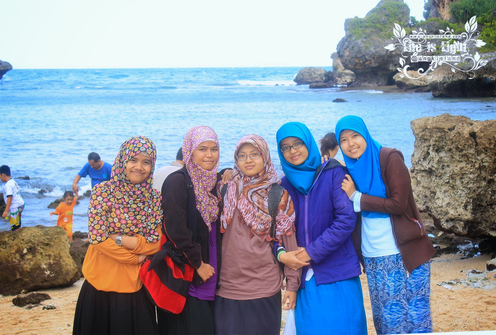 Having fun at pantai ngrenehan