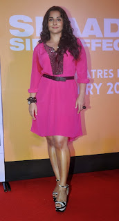 Actress Vidya Balan Pictures in Pink Short Dress at Shaadi Ke Side Movie Trailer Launch 0006.jpg