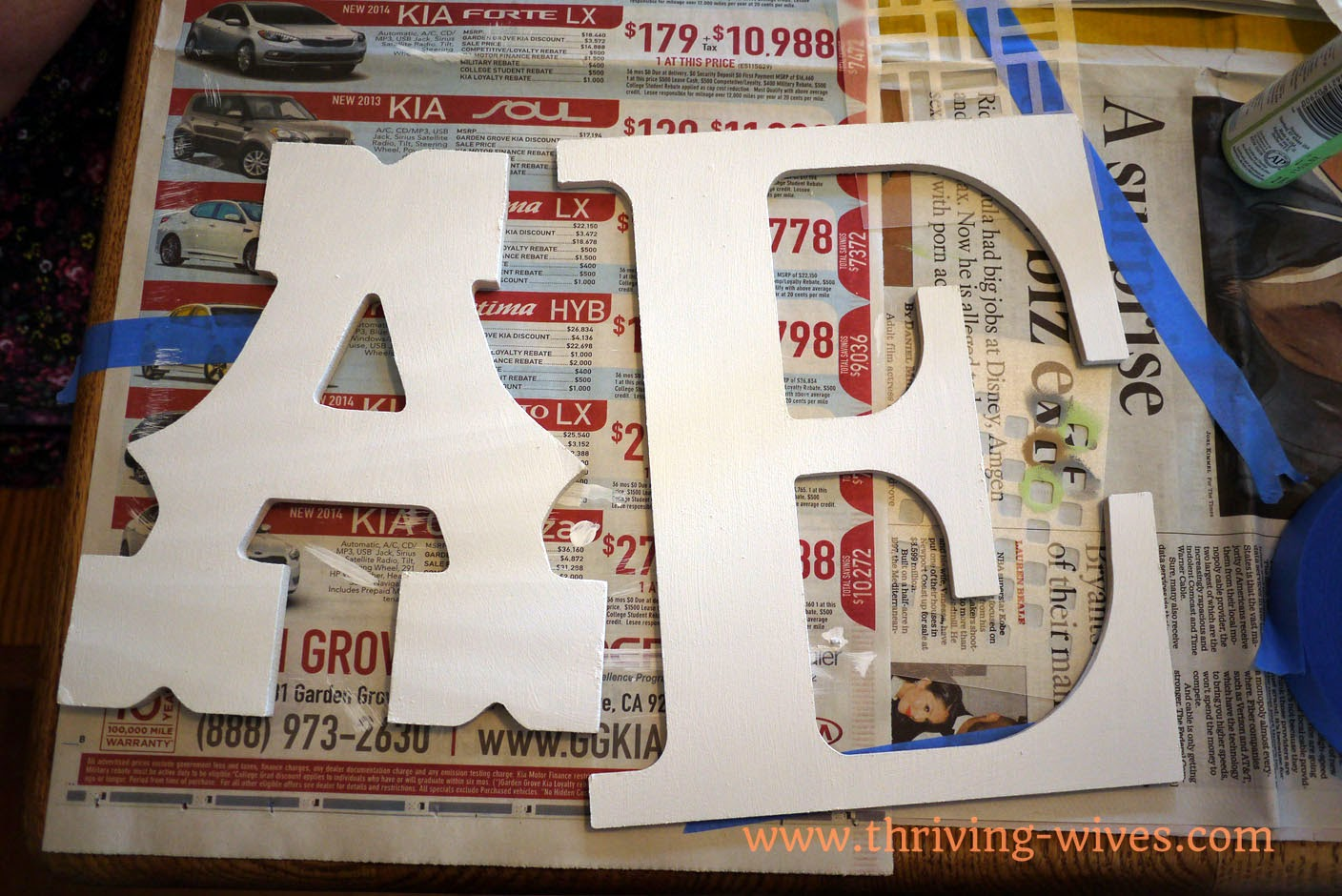 DIY Mismatched Nursery Letters
