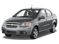 Our Chevy Aveo we got at a discounted price from Rental Car Momma!