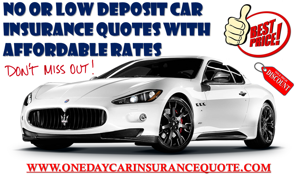 No Or Low Deposit Car Insurance For Young Drivers