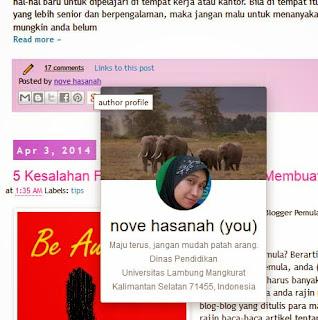 profil google+ otomatis muncul di blog