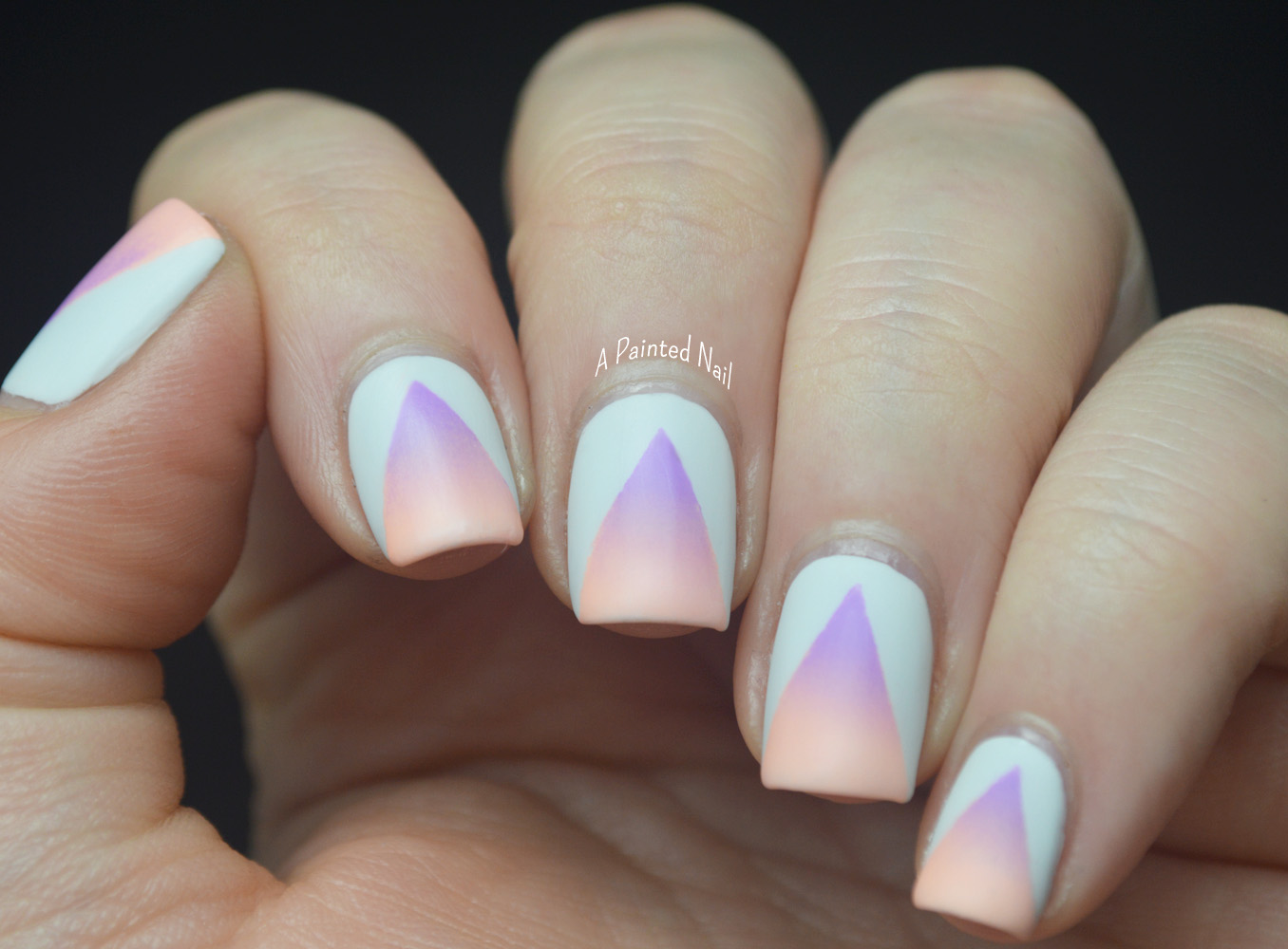 Painted Nail: Summer Nail Art Series: Matte Neon Gradient Cut Outs
