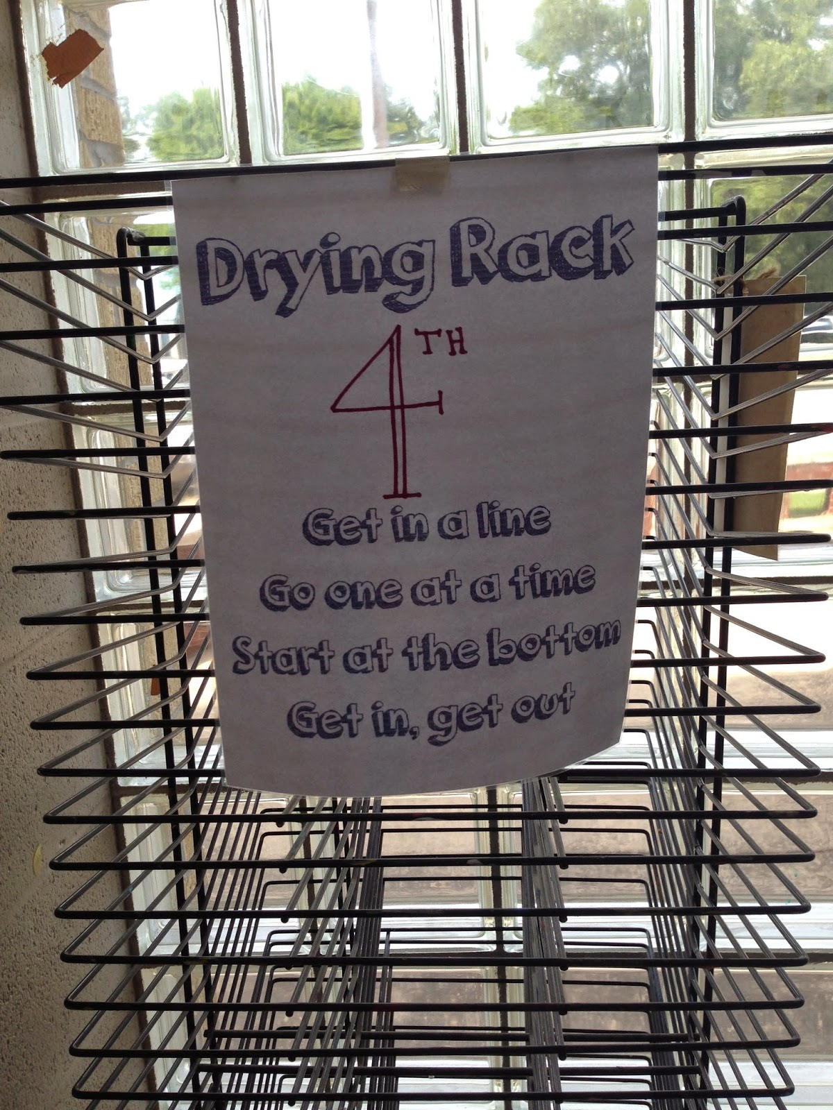 Drying Rack Procedures