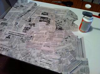 C mo hacer un cuadro con papel de diario - Como hacer un marco de fotos original ...