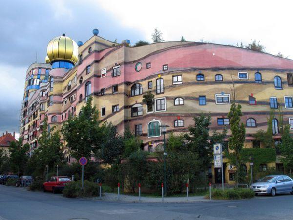 Hutan Spiral - Bangunan Hundertwasser (Darmstadt, Jerman)